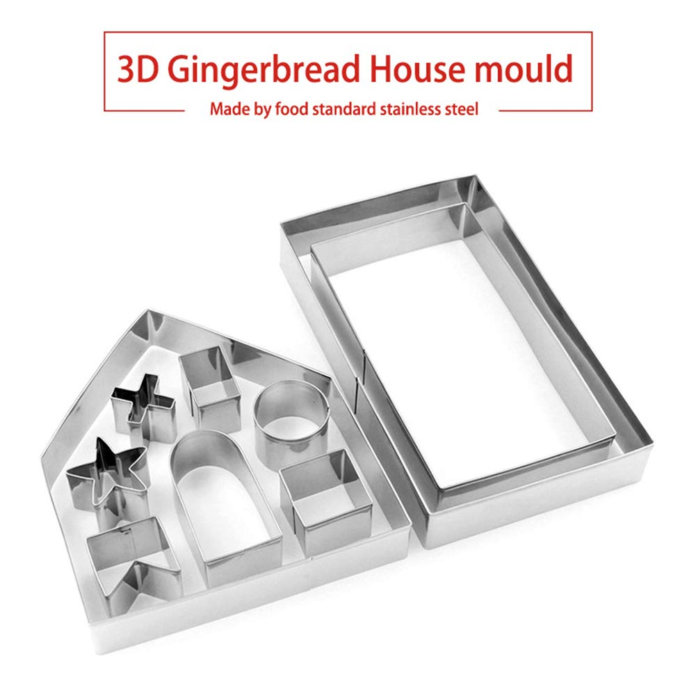 Ruiting Stainless Steel Cake Biscuit Cookie Cutter Mold Tool Home Kitchen Tool Bake Your Own Small Gingerbread House Kit