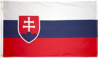 product image for Annin Flagmakers Model 221809 Slovakia Flag 3x5 ft. Nylon SolarGuard Nyl-Glo 100% Made in USA to Official United Nations Design Specifications.
