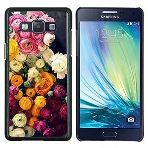LECELL--Funda protectora / Cubierta / Piel For Samsung Galaxy A5 A5000 -- Ramo de Rosas Rosa Amarillo --