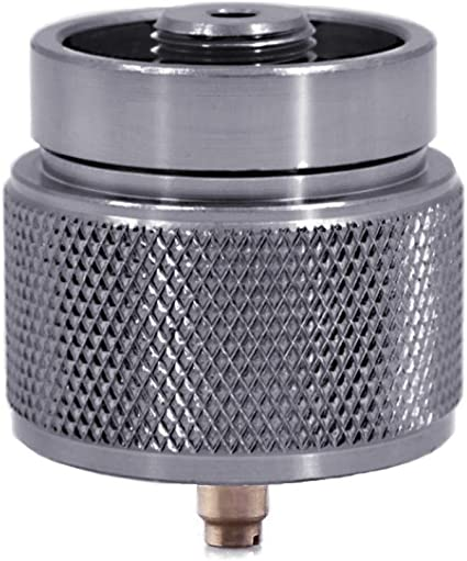 Kbrotech Camping Stove Adapter 1LB Propane Small Tank Input and a Lindal Valve EN417 Output Outdoor Cylinder LPG Canister Convert