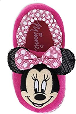 Disney Toddler Girl's Minnie Mouse Slippers Pink (11 12 M US Little Kid)