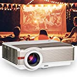 HD LCD Video Projector 4200 High Lumen Home Cinema Outdoor Theater HDMI Projector LED Lamp 50,000hrs Support Full HD 1080P for Laptop DVD Player Game Consoles