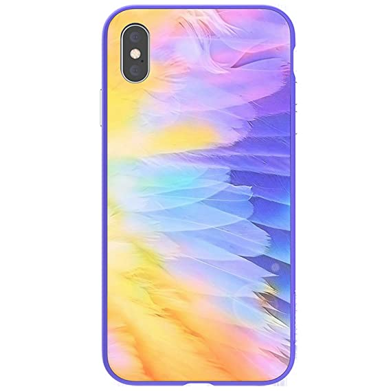 b717184ffdc5f Amazon.com: Ombre Case for iPhone Xs Max Magnetic Bumper Tempered ...