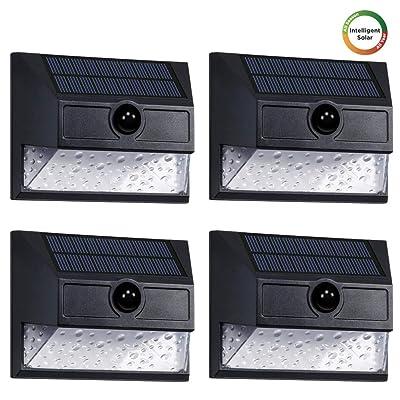 Westinghouse Intelligent Security Lights Solar Outdoor 30 LEDs Wireless Motion Sensor Light 800 Lumens Teardrop Seeded Lens Wall Light for Garden, Patio, Yard, Driveway, Garage, Porch (4pk): Home Improvement