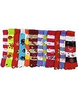 RSG Hosiery Funky Striped Toe Socks Kids/Children 3-Pack