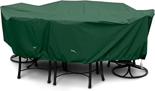 KoverRoos Weathermax 61352 Large Dining Set Cover, 108 by 82 by 28-Inch, Forest Green