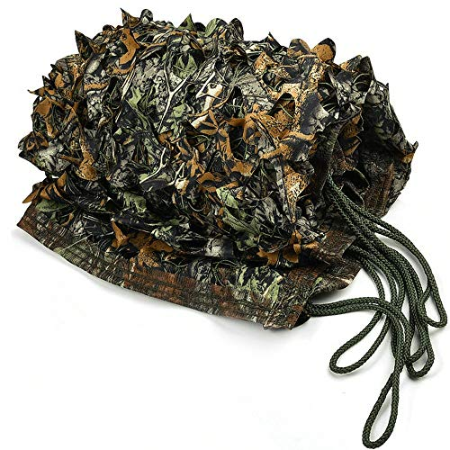 IUNIO Camouflage Netting Camo Net Blinds for Sunshade Camping Shooting Hunting Decoration (Green Brown Tree Camo, 32.8ftx5ft 10mx1.5m) from IUNIO