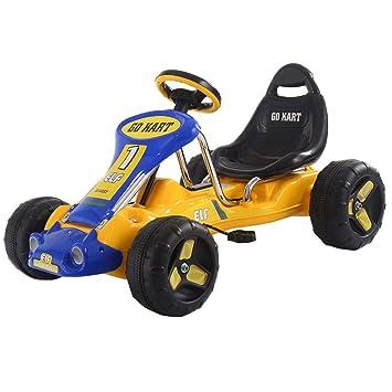COSTWAY Go Kart Pedal para Niños Coche Vehicle Juguete Infantil Carga Máxima 25 KG con Ruedas