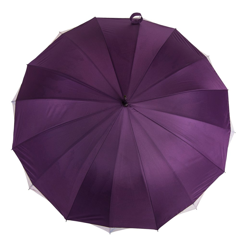 Austin House City Scene 16 Panel Stick Umbrella, Purple, International Carry-On Holiday Luggage AH05DL01010