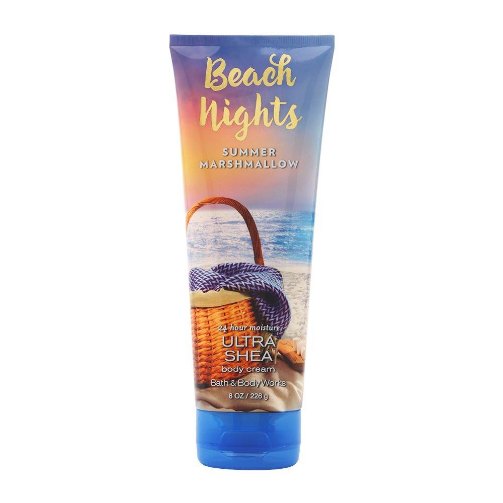 Bath & Body Works Beach Nights Summer Marshmallow 8.0 oz Ultra Shea Body Cream
