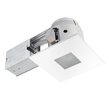 bathroom led lighting kits. 4\u0026quot; LED IC Rated Bathroom Shower Dimmable Downlight Recessed Lighting Kit, White Finish, Led Kits H