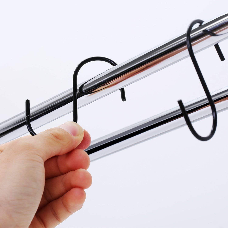 DILISEN 20 Pack Black S-hooks S Hanging Hooks S Shaped Hooks S Hanger Hooks Kitchen Pot Pan Hooks