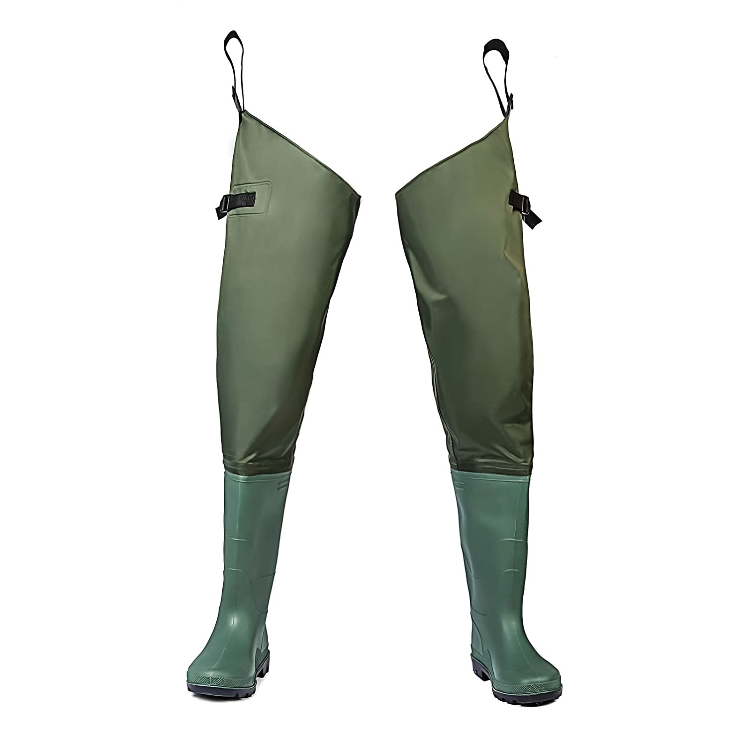FISHINGSIR Fishing Hip Waders for Men with Boots Waterproof Breathable Hip Boots Women