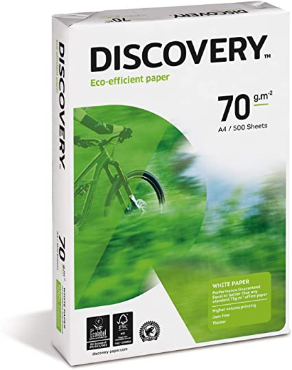 Discovery 367060 - Pack de 500 hojas, A4, 70 gr: Amazon.es: Oficina y papelería