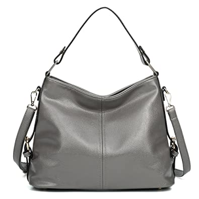 2bb775e40a51 Amazon.com  YOUR GALLERY Women s Top Satchel Handbags Shoulder Bags  Messenger Tote Purse Bag (Gray)  Shoes