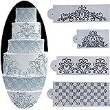 Whitelotous Different Patterns Cake Cookie Fondant Side Baking Stencil Wedding Decor Mold Tool (Type B)