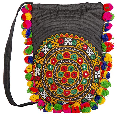 Rabarikaa Embroidered Ladies Purse | Color Black | Exclusively From Kutch Gujarat