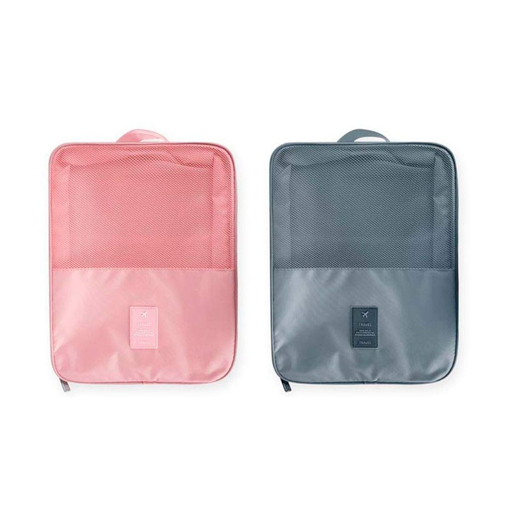 Shoe Storage Bag Holds 3 in 1 shoe bag for Travel and Daily Use Grey,Pink