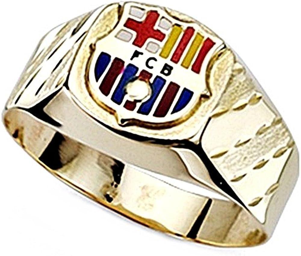 Sello escudo F.C. Barcelona oro de ley 18k cadete hueco [8447] - Modelo: 10-053: Amazon.es: Joyería