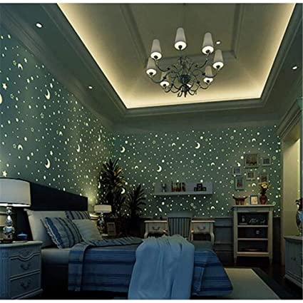 Pmhhc Glow Effect Night Sky Design Star And Moon Luminous