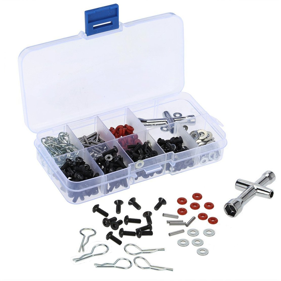 ShareGoo Special Repair Tool & Screws Box for 1/10 HSP RC Car (240/Lot)