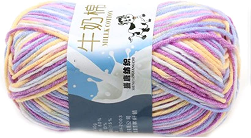 rongwen Suave Suave Leche de algodón Natural de la Mano de Tejer Lana de Lana Bola del Hilado del bebé Craft-Colorido: Amazon.es: Hogar