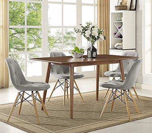 Mid Century Dining Table Acorn Finish product image