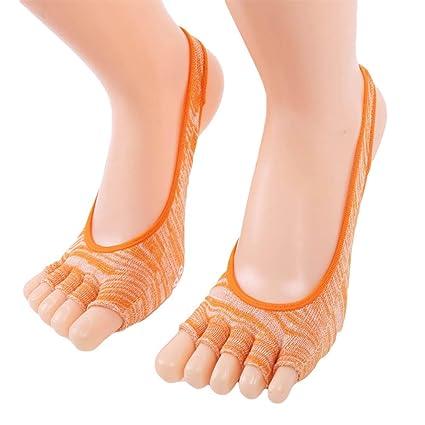 Amazon.com: Calcetines de yoga Chuangui sin dedos para ...