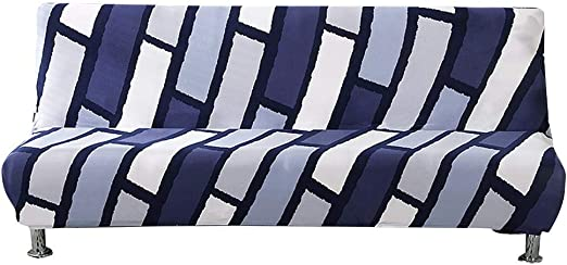 Elastic Stretch Armless Sofa Bed Cover Solid Protector Folding Futon Slipcover