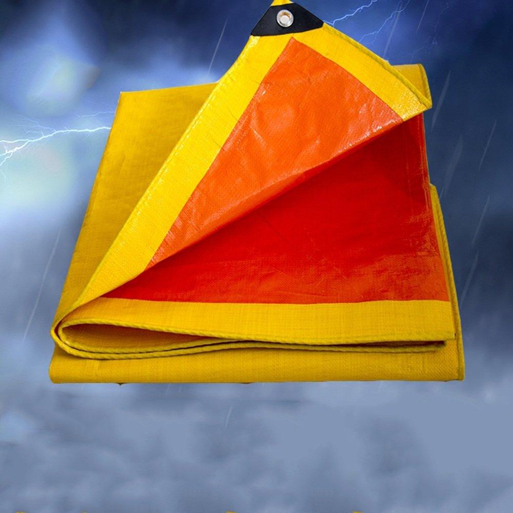 FEI Wasserdichte Plane Orange Plane-LKW-Plane-Plastikregen-Schatten-Plane-Dreirad-Kabinendachwasserfeste Plane 220g   m² 0.3mm professionelle Deckung   Plane (größe   3mx4m)
