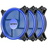 upHere Blue Computer Case Fan 120mm LED Silent Fan Computer Cases, CPU Coolers Radiators Ultra Quiet, Premium Edition,3 Pin 3 Pack/B12CM3-3