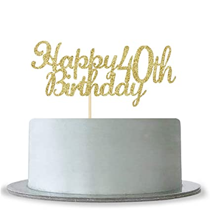 Image Unavailable Not Available For Color Happy 40th Birthday Cake