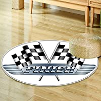 Anti-Skid  Area Rug checkered chequered flags motor racing finish raster version  Soft Area Rugs -Round 55