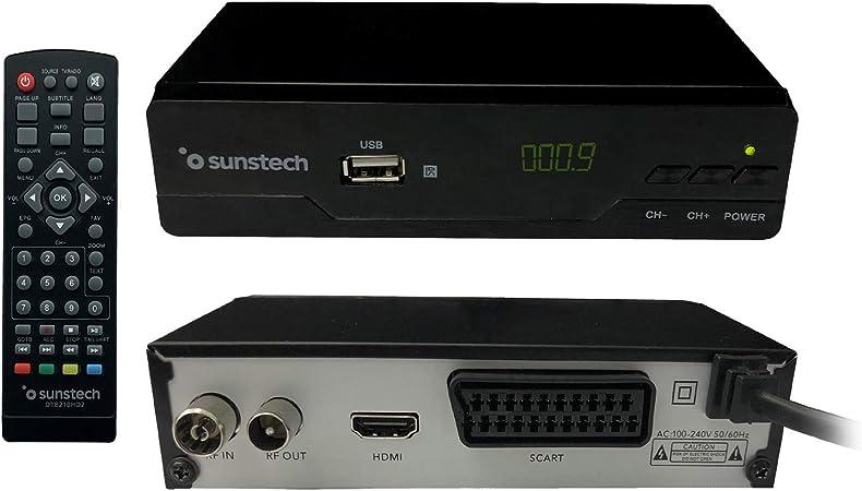 Sunstech - DTB210HD2. Descodificador Digital TDT HD , Color Negro