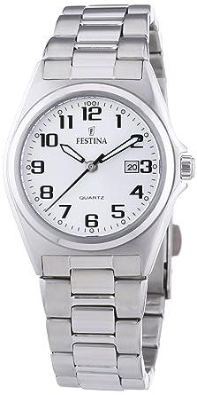FESTINA F16375/9 - Reloj de Mujer de Cuarzo, Correa de Acero Inoxidable Color Plata: Amazon.es: Relojes