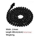 SINLEO Titanium Stainless Steel 2.4MM Small Beads