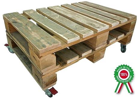 Ruote Per Tavolo Da Lavoro : Tavolo basso in legno da caffè pallet bancali con ruote per salotto