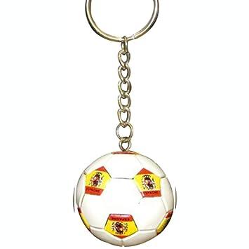 Futbol de fútbol balón de fútbol España llavero llaveros: Amazon ...