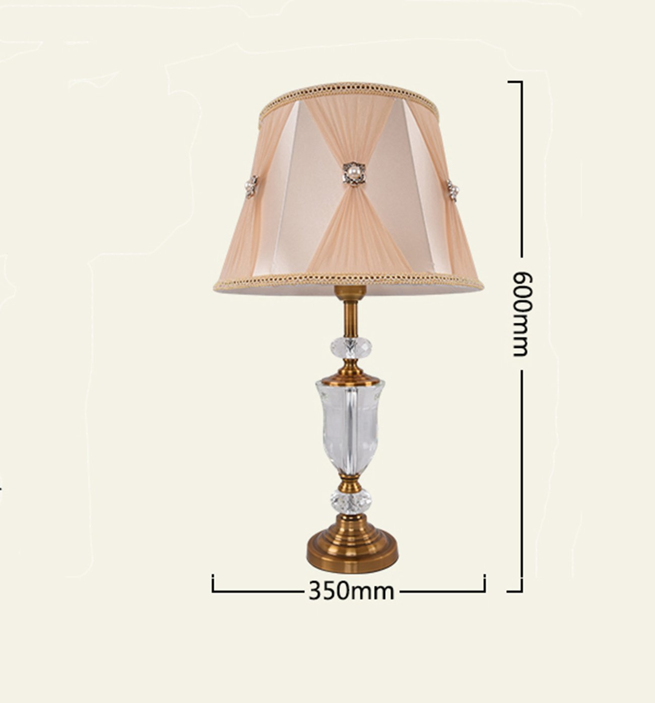 Garwarm Crystal Flower Table Lamps For Living Room Bedroom,3562CM/13.724.5 Inch WH