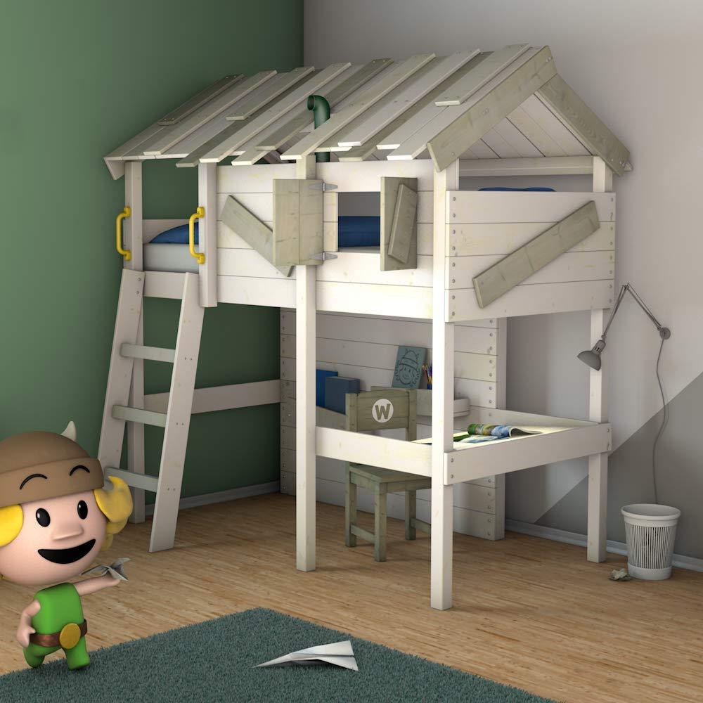 ahorra hasta un 30-50% de descuento Cama para niños con escritorio WICKEY CrAzY Island Island Island 90 x 200 cm  clásico atemporal