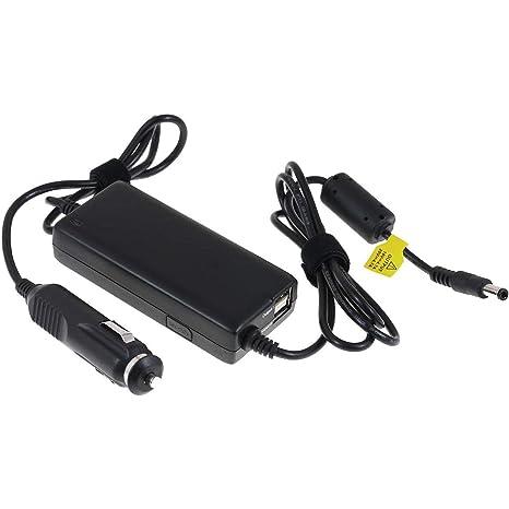 Adaptador de Coche para Ordenador Portátil con Conector de 4,0mm x 2,0mm