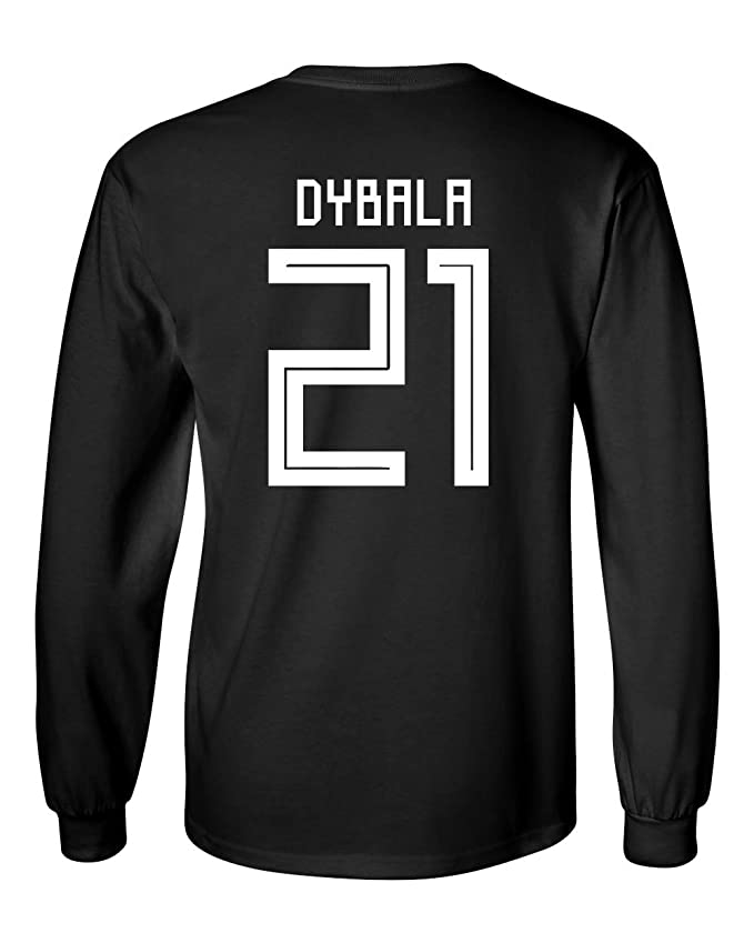 reputable site 78ce1 c0bcc Tcamp Argentina 2018 National Soccer #21 Paulo Dybala World Championship  Men's Long Sleeve T-Shirt