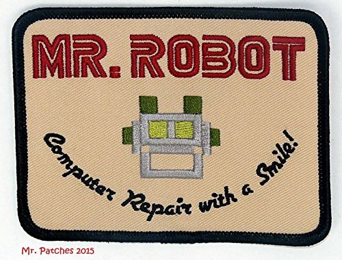 MR ROBOT FSOCIETY TV SHOW Embroidery Patch Halloween costume Badge Easy Iron On]()