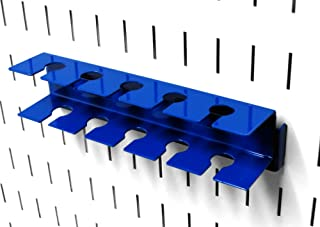 product image for Wall Control Pegboard Slotted Tool Holder Bracket Slotted Metal Pegboard Accessory for Wall Control Pegboard and Slotted Tool Board – Blue