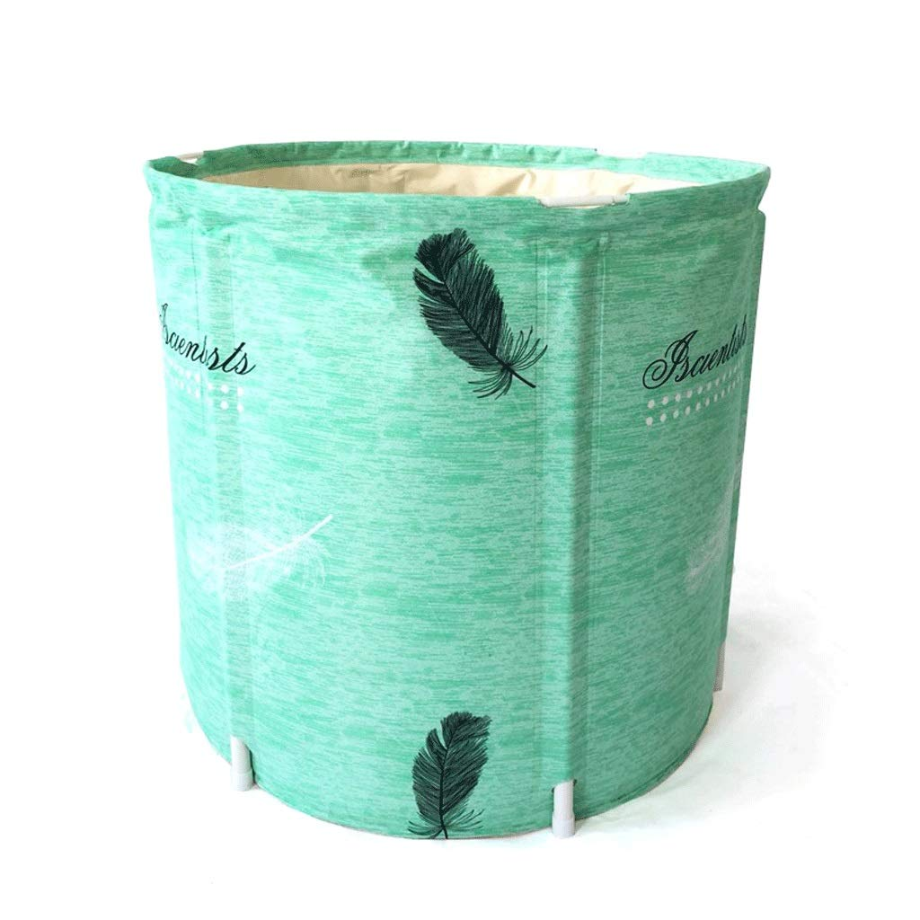 Folding Bathtub Padded Insulation Barrel BathAdult Folding Stand Tub Plastic Household Adult Inflatable Bathtub Portable