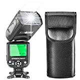 Neewer E-TTL Speedlite Flash with LCD Display, Hard Diffuser and Protecting Bag for Canon DSLR Cameras, Such As 7D Mark II, 5D Mark II III IV, 1300D, 1200D, 750D, 700D, 600D, 80D, 70D, 60D (NW-562)