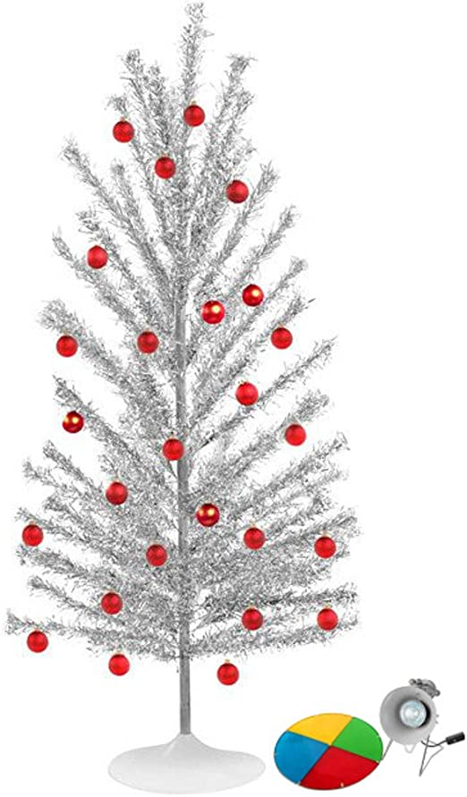 Amazon.com: Brandi Decor Aluminum Christmas Tree with Color Wheel ...