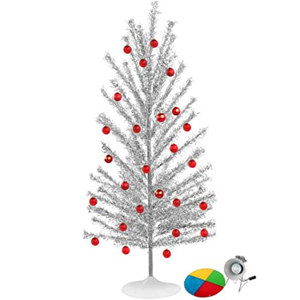 Amazon Com Aluminum Christmas Tree With Color Wheel Set Home Kitchen
