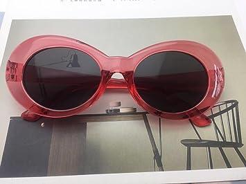 Burenqi@ Hip Hop Elíptica Retro Gafas De Sol Productos Estrella Tendencias Street Shoot Gafas De Sol,C: Amazon.es: Deportes y aire libre