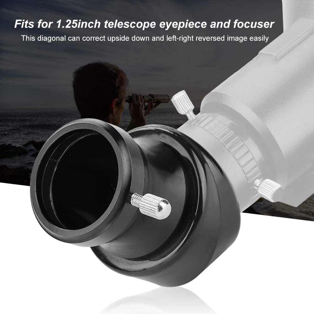 45-Degree Diagonal Mirror 31.7mm Plastique Erect Image Diagonal Mirror Adapter for 1.25inch Telescope Eyepiece and focuser